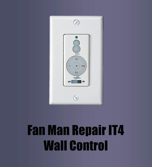 W-32 & W-11 Replacement Switch - Fan Man IT4 Wall Control ( for fans Casablanca Fans Wiring Diagram W on
